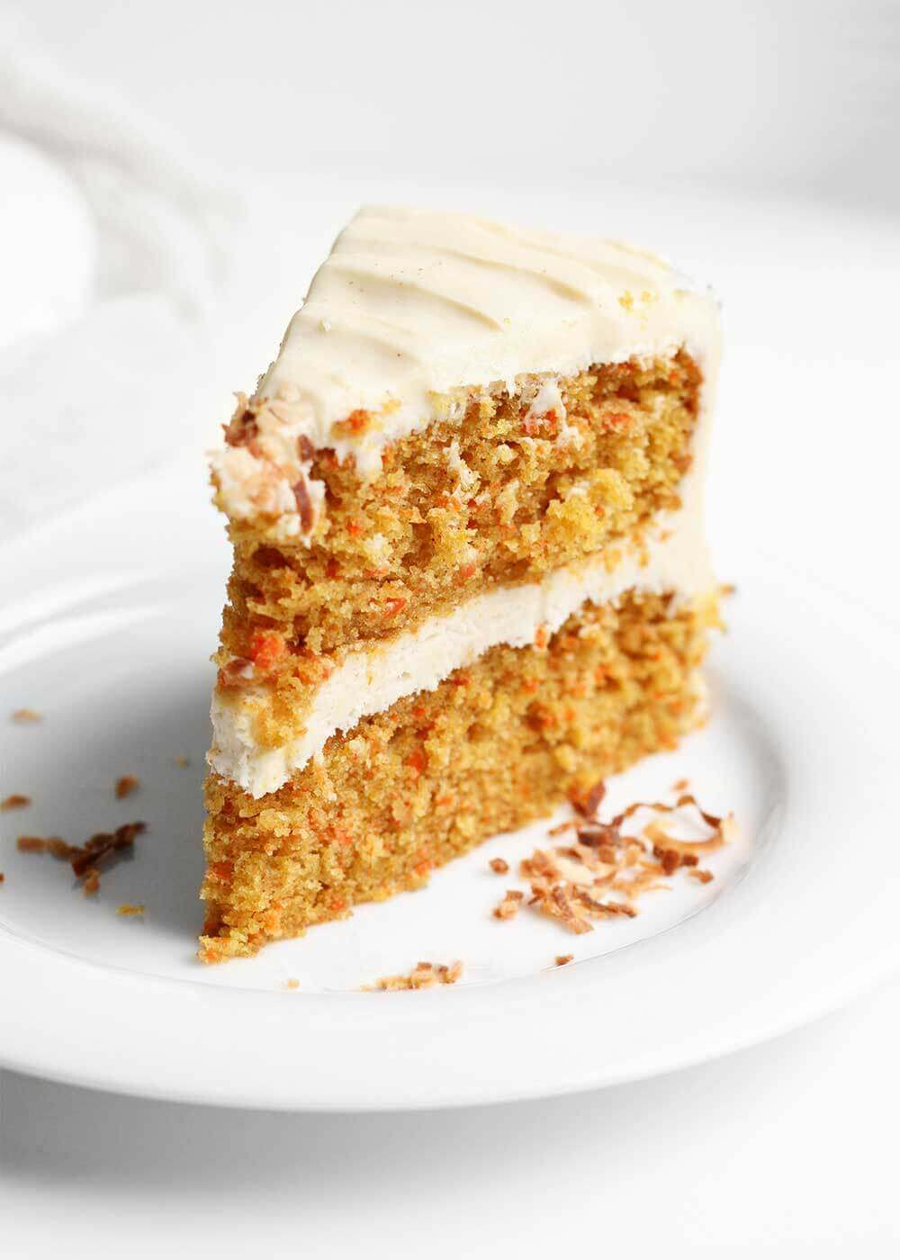 slice of carrot cake from the faux martha