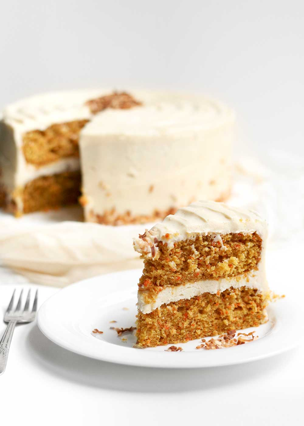 carrot cake with brown butter cream cheese frosting from the faux martha