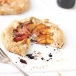Ricotta Peach Galette with Maple Balsamic Glaze | The Faux Martha
