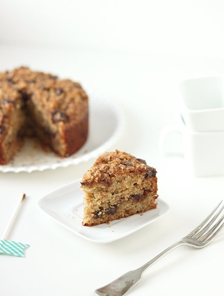 Chocolate Chip Banana Cake | The Faux Martha