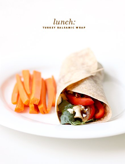 Turkey Balsamic Wrap | The Fauxmartha