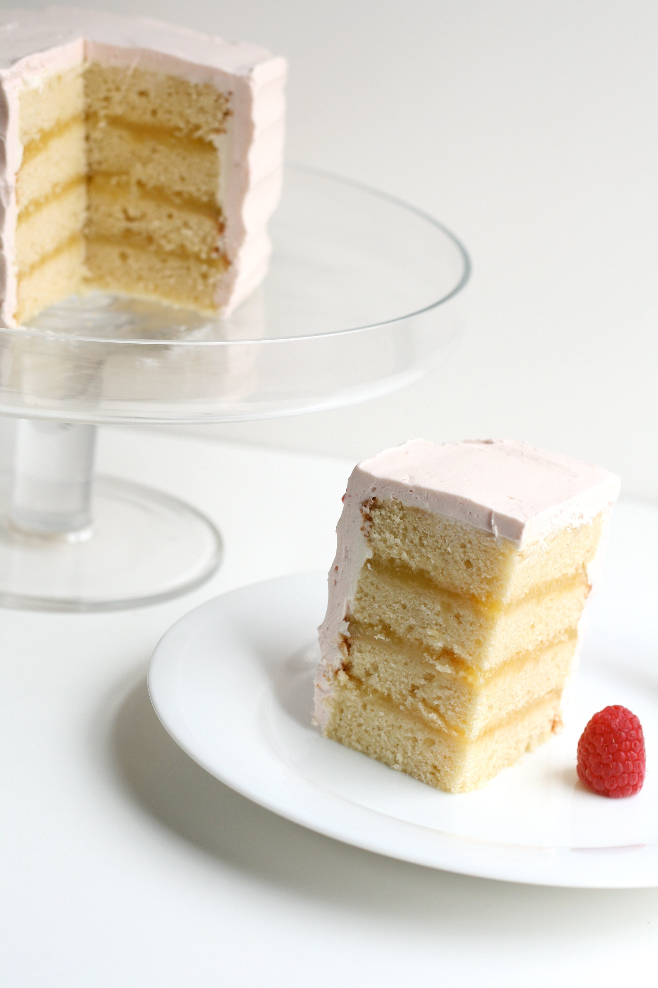 mini lemon raspberry cake yellow butter cake lemon curd raspberry ...