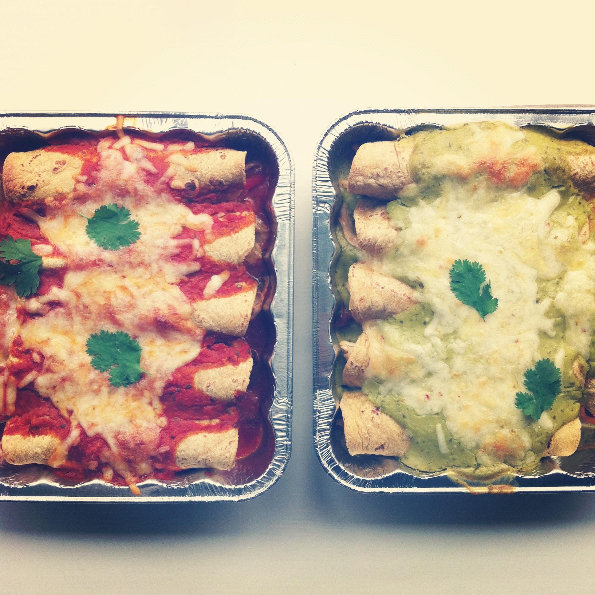 Enchiladas and Freezer Meals