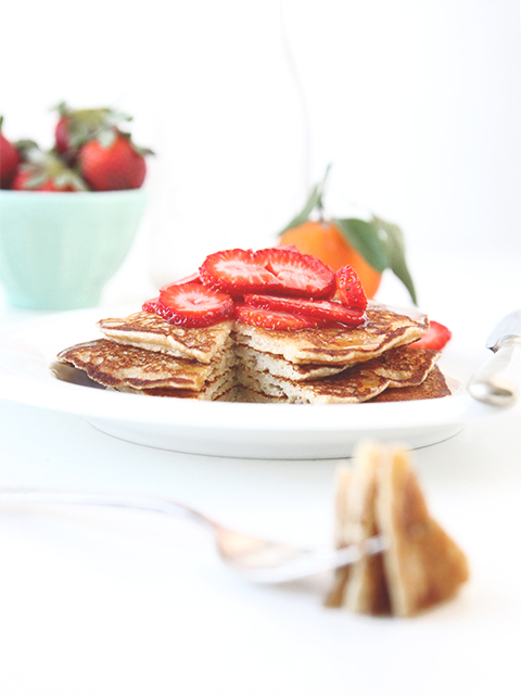 Whole Wheat Pancakes | The Fauxmartha