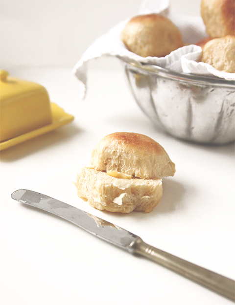 Honey Orange Butter Wheat Rolls | The Fauxmartha