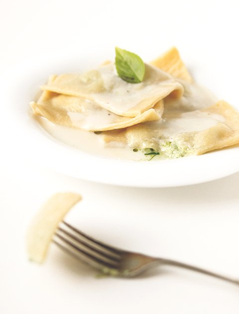 Ramp Ravioli | The Fauxmartha