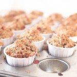 Strawberry Rhubarb Crumble Muffins | The Fauxmartha