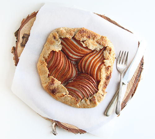 Pear Almond Galette | The Fauxmartha