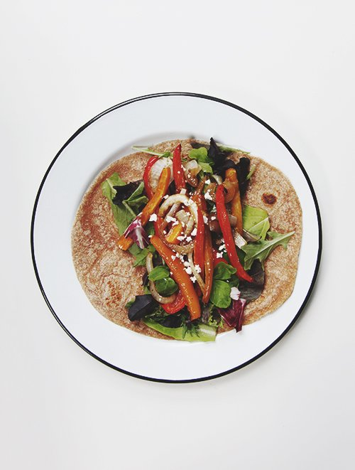 Roasted Veggie Wrap | The Fauxmartha