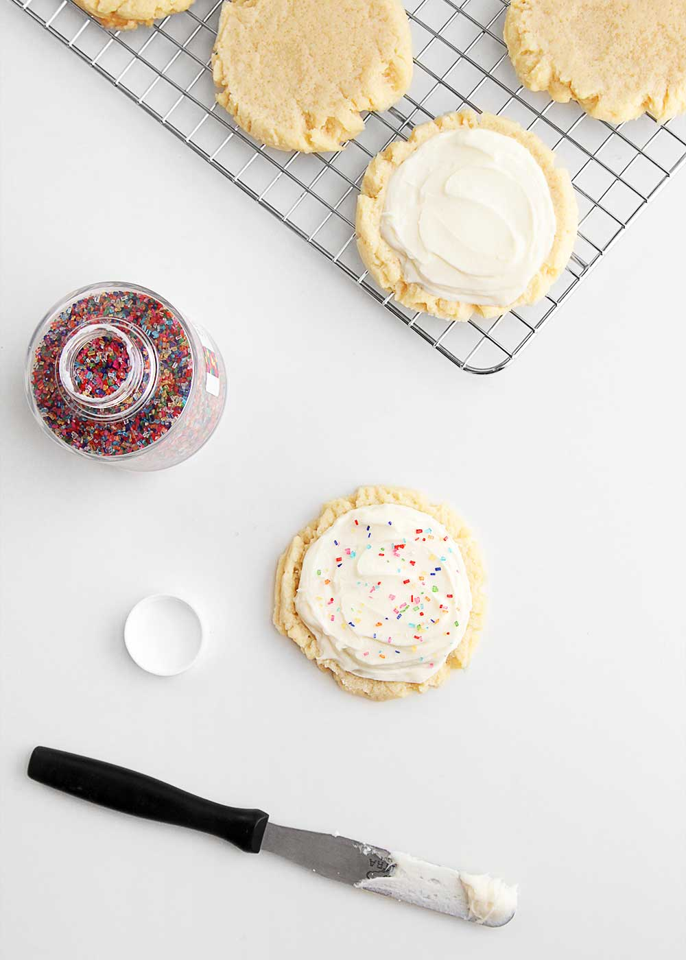 Big Fat Sugar cookie with sprinkles from The Faux Martha