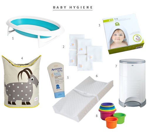 Minimalist Baby Hygiene Registry from The Fauxmartha