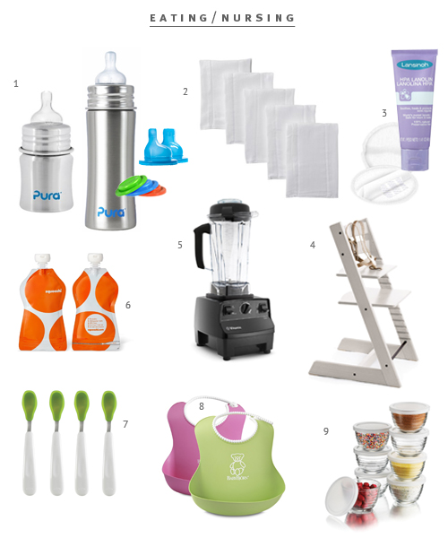 Minimalist Baby Registry for bottles and feeding from The Fauxmartha