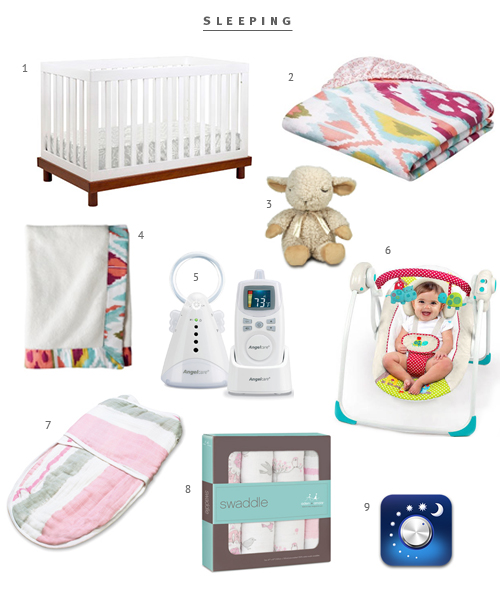Minimalist Baby Registry sleeping items from The Fauxmartha