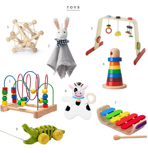 Minimalist Baby toys from The Fauxmartha