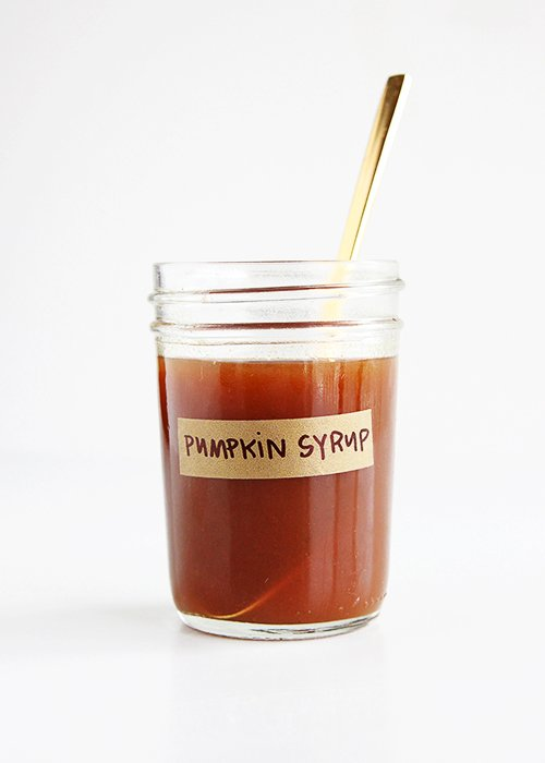 Maple Pumpkin Latte Syrup | @thefauxmartha