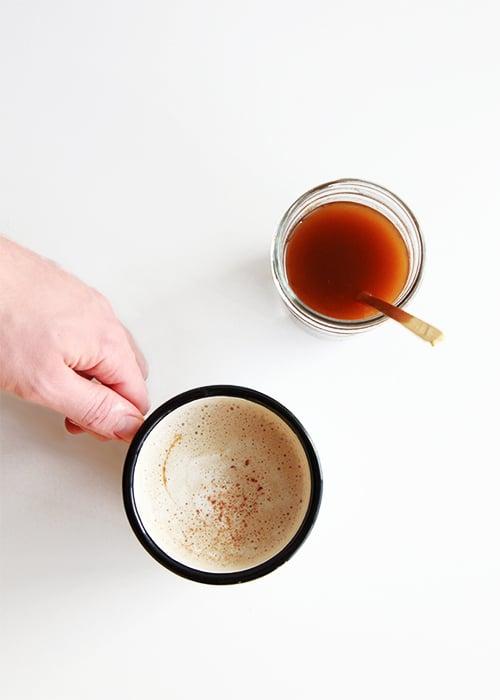 Maple Pumpkin Latte Syrup | @thefauxmartha
