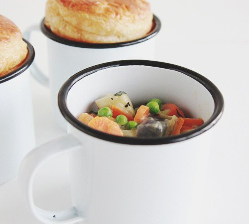 Veggie Pot Pies in a Mug | The Fauxmartha
