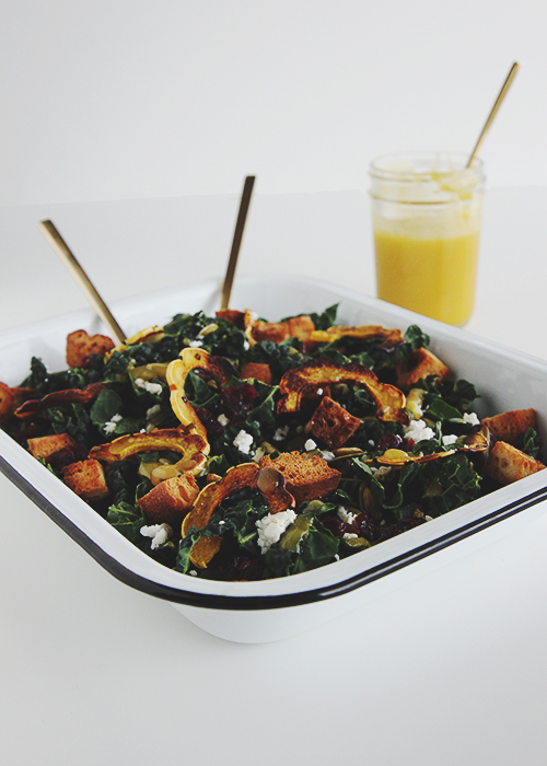 Squash Kale Autumn Salad | The Fauxmartha