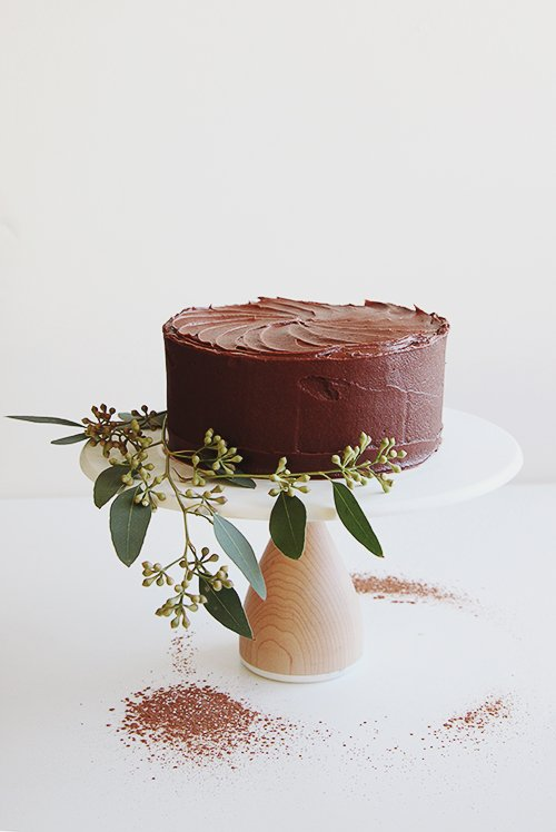 A Simple Chocolate Cake | @thefauxmartha