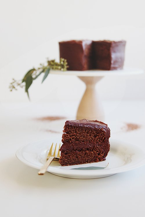 A Simple Chocolate Cake   @thefauxmartha