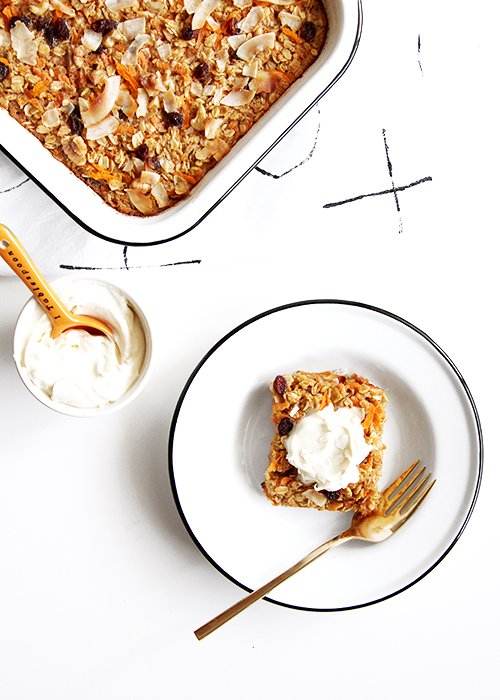 Carrot Cake Baked Oatmeal | @thefauxmartha