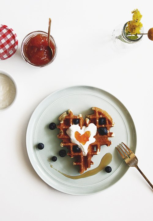 Waffles, Yogurt, and Preserves | @thefauxmartha