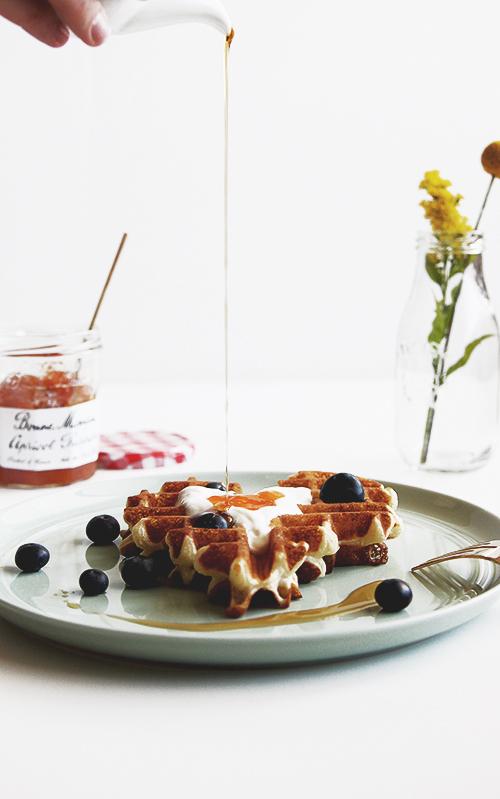 Waffles, Yogurt, and Preserves | @thefauxmartha