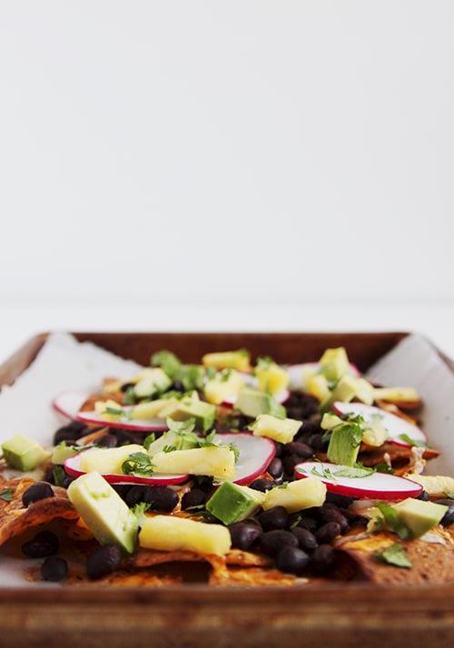 BBQ Black Bean Nachos | @thefauxmartha