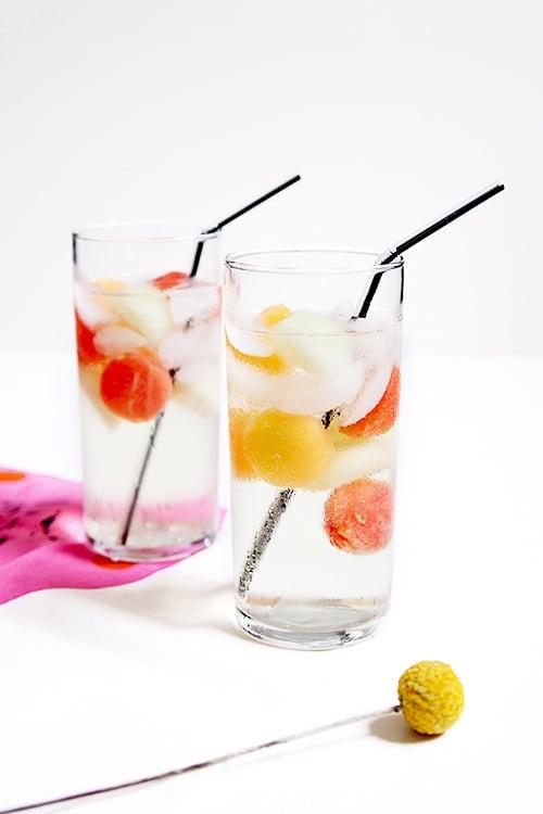 Melon Ball Cocktail | @thefauxmartha