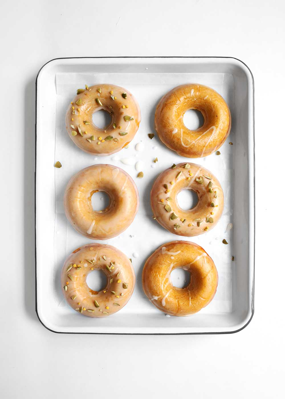 baked pumpkin donuts from the faux martha
