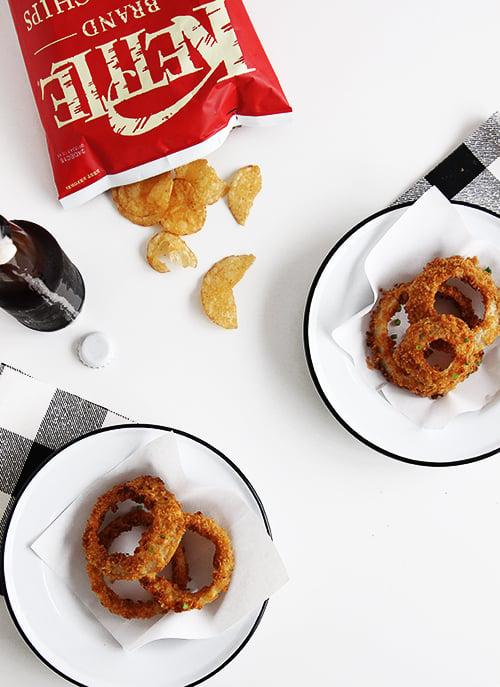 Baked Onion Rings   @thefauxmartha