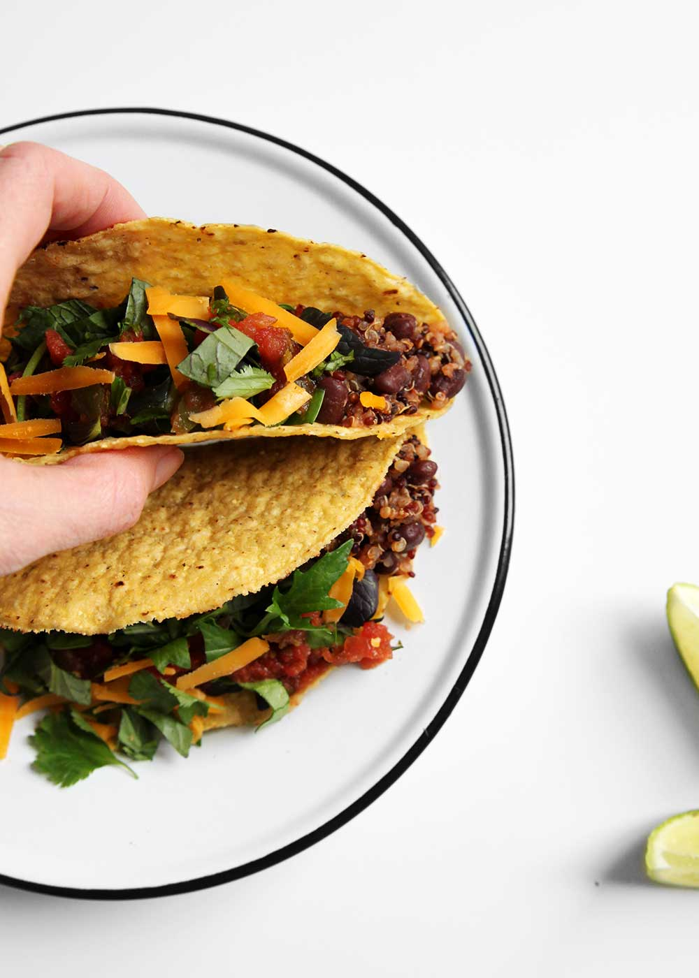 "Vegetarian Taco ""Meat"" from the faux martha"