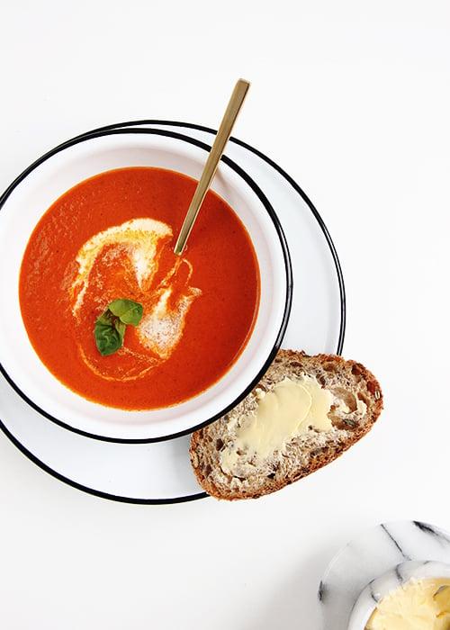 20-minute Tomato Soup | @thefauxmartha