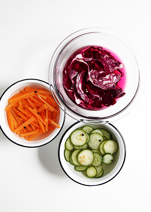 Quick Pickled Vegetables | @thefauxmartha