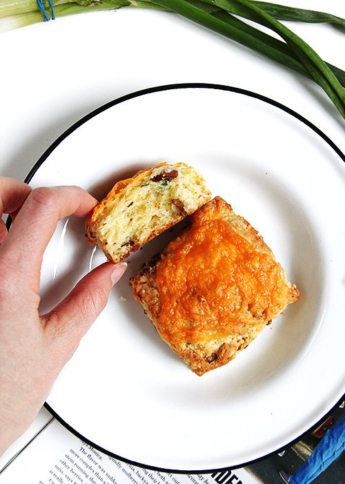 Cheddar Bacon Scones | @thefauxmartha