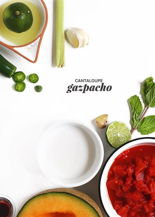 Cantaloupe Gazpacho | @thefauxmartha