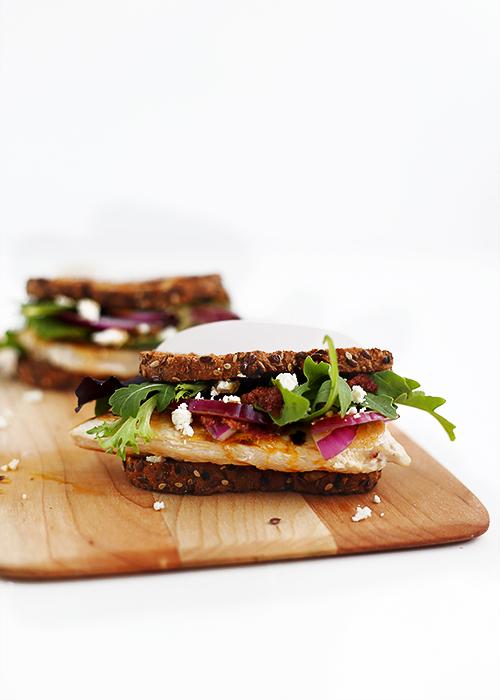 Sun-dried Tomato Pesto Picnic Sandwich | @thefauxmartha