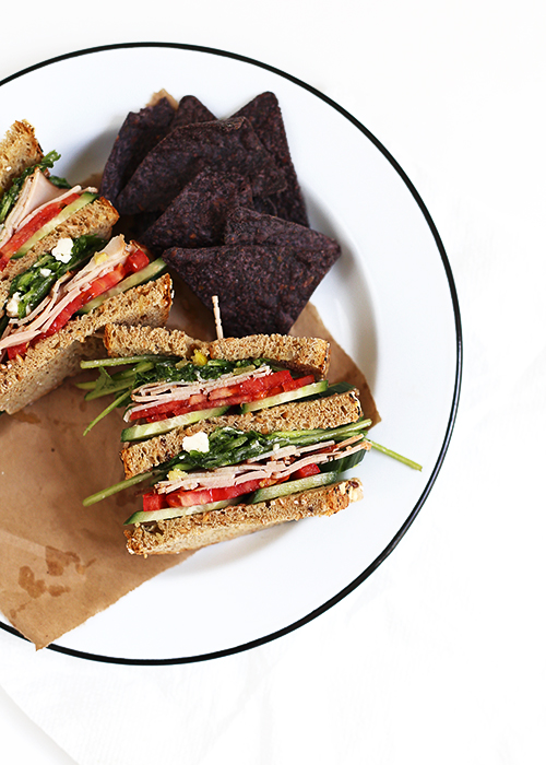 Italian Salad Sandwich   @thefauxmartha