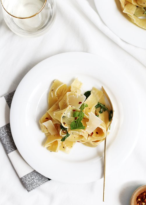 Peppery White Wine Pasta | @thefauxmartha