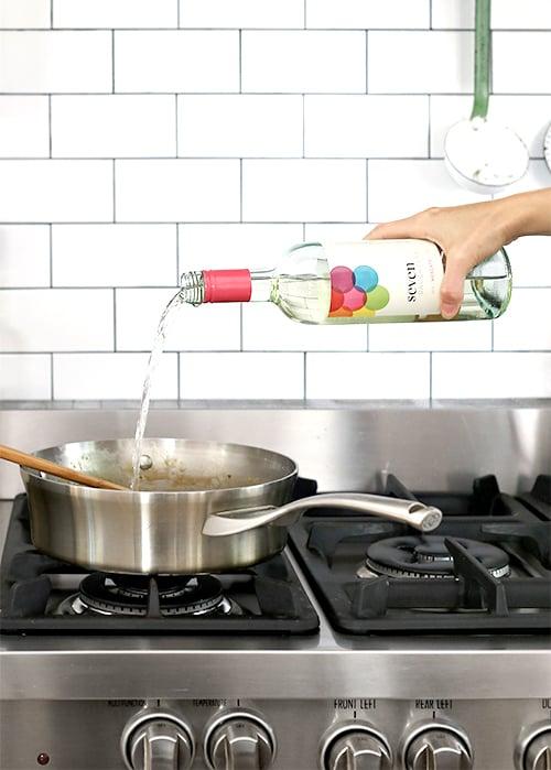 Peppery White Wine Pasta | @thefauxmartha