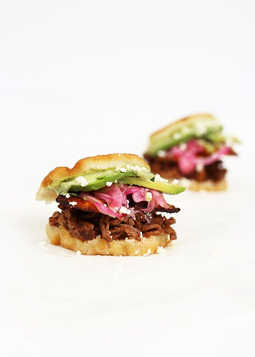 Slow-cooked Beef and Plantain Arepas | @thefauxmartha