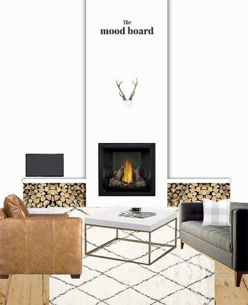 Cozy Modern Fireplace | @thefauxmartha