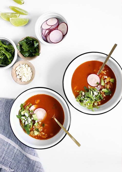 Quick Red Pozole | @thefauxmartha