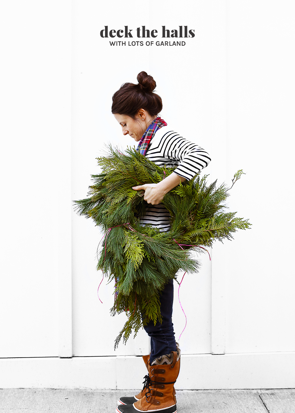 Deck the halls with fresh garland from Costco with The Fauxmartha