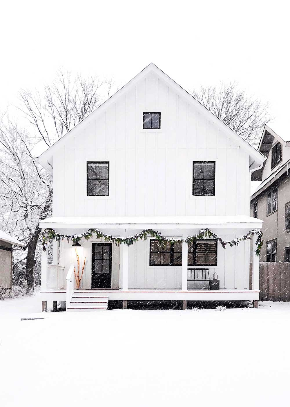 the faux house in winter