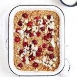 Tart Cherry Almond Baked Oatmeal