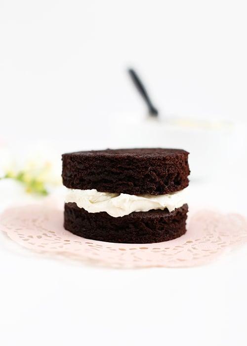 Mini Chocolate Wine Cakes | @thefauxmartha