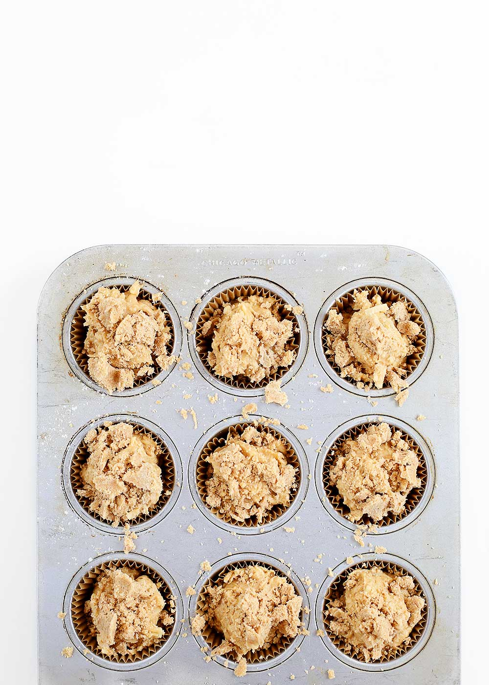 Apple Crumb Muffins from The Fauxmartha