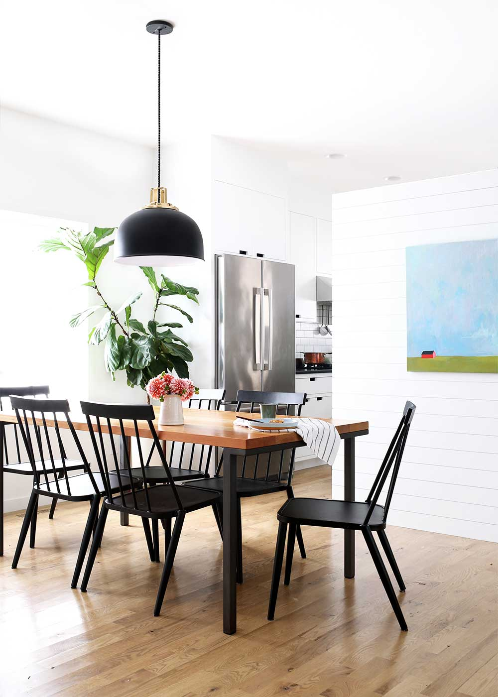 Modern Farmhouse Dining Room and Windsor Chairs from The Fauxmartha