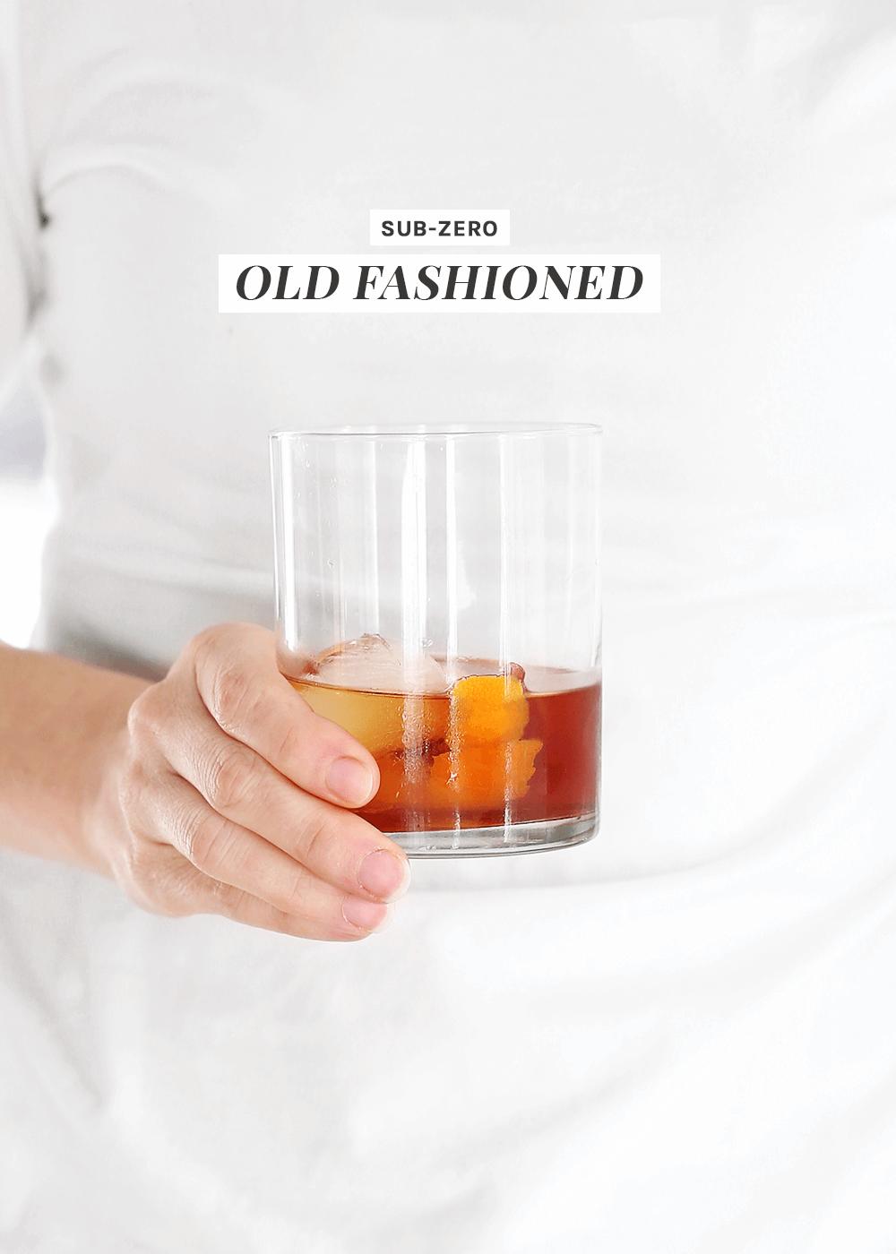 Sub-Zero Old Fashioned Cocktail recipe on The Fauxmartha